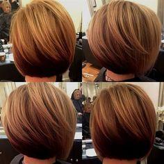 Best Short Bob Hairstyles Ideas for 2018 – 2019 Short Bob Haircuts Short Stacked Bob Haircuts, Short Stacked Bobs, Popular Short Haircuts, Cute Bob Haircuts, Stacked Bob Hairstyles, New Short Hairstyles, Bob Haircuts For Women, Short Hair Cuts, Short Hair Styles