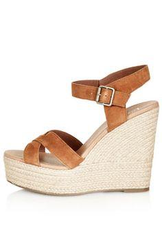 Chaussures croisées à talons compensés WHISPERED