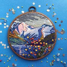 Embroidery art, landscape