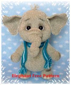 Crochet Dolls Free Patterns, Crochet Blanket Patterns, Amigurumi Patterns, Crochet Elephant Pattern Free, Crochet Disney, Crochet Geek, Free Crochet, Stuffed Animal Patterns, Knitting