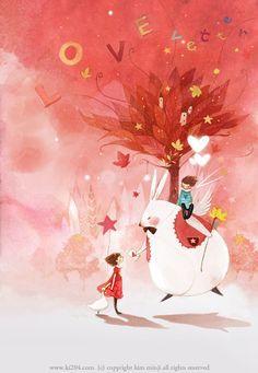 Children's Book Illustration, Graphic Design Illustration, Watercolor Illustration, Watercolor Art, Kim Min Ji, Orange Wall Art, Cute Monsters, Pretty Art, Conte