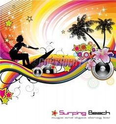 Dance and Music tropical Event Background for Disco Flyers