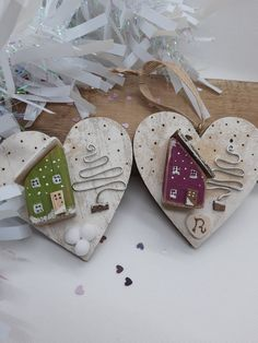 Decor Crafts, Christmas Crafts, Merry Christmas, Arte Country, Wooden Houses, Miniature Houses, Birdhouses, Soap Making, Christmas Tree Ornaments