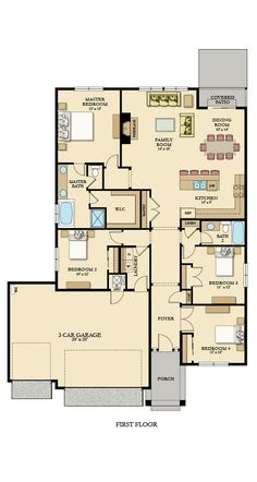 Lennar New Homes For Sale - Building Houses and Communities Sims House Plans, New House Plans, Dream House Plans, House Floor Plans, Building Plans, Building A House, Retirement House Plans, One Level Homes, Small Floor Plans