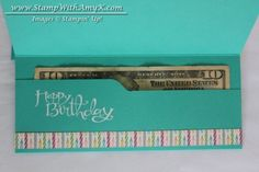Sassy Salutations. Envelope punch board money holder tutorial. #SU