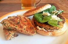 Tofu Burgers Recipe  You don't have to be a vegetarian to enjoy tofu!  #food #recipes #cooking #tofu #mushrooms #coriander #spinach #vinegar