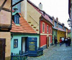 Golden alley in Prague castle Budapest, Prague Cz, Eastern Europe, Vacation Destinations, Czech Republic, Places Ive Been, Castle, Wanderlust, Street View