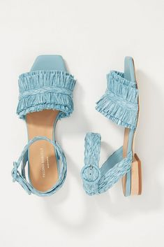 These are our absolute favorite shops buy your wedding shoes, bridal heels, chic flats & bridal booties. Paloma Barcelo Giselle raffia blue sandal – Anthropologie – The Best Places to Buy Wedding Bridal Heels Online Designer Wedding Shoes, Bridal Wedding Shoes, Bridal Heels, Wedding Attire, Bridal Shoes Online, Exclusive Shoes, Cinderella Shoes, Popular Shoes, Blue Sandals
