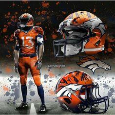 I like the mountains on the helmets & i like those jerseys as well Denver Broncos Football, Nfl Football Teams, Best Football Team, Football Memes, Football Stuff, Football Season, College Football, Broncos Memes, Nfl Broncos