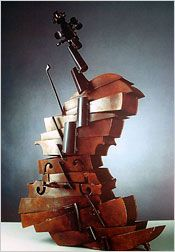 """The Oracle of Environmental Art"" - 2003 Sport Artist of the Year Artist Biography Cello Art, Guitar Art, Principles Of Design, Assemblage Art, Wooden Art, Sports Art, Environmental Art, Art Model, Land Art"