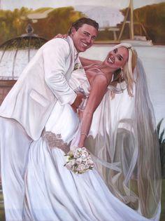 Wedding Custom Portrait Oil Painting