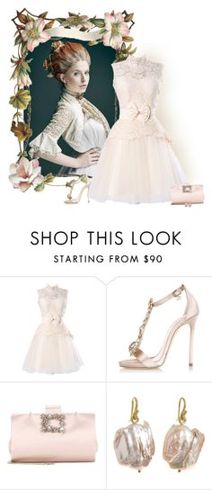 """""""Lace worked back then and it works now"""" by whiteflower7 ❤ liked on Polyvore featuring Dsquared2, Roger Vivier and Gabrielle Sanchez"""
