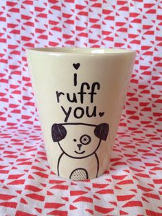 Valentines Day Dog Mug  by ThisNThatbyAli on Etsy, $12.00
