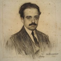 Ramon Casas i Carbó (1866-1932) Catalan Spanish artist. Living through a turbulent time in the history of his native Barcelona, he was known as a portraitist, sketching and painting the intellectual, economic, and political elite of Barcelona, Paris, Madrid.