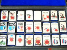 Collection of Lucky Strike Zippo lighters
