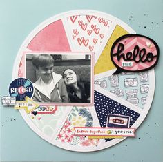 Layout using Amy Tangerine Better Together and silhouette cut file