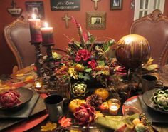 Embellishments by SLR: Fall Tuscan Breakfast Table