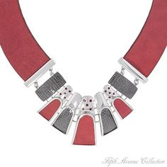 Rhodium Set - Lady Loves Red - Canada - Fifth Avenue Collection - Jewellery that changes the way you see fashion