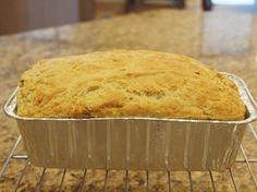 Cheesy Beer Bread....great with soup in winter.