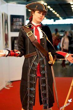 Haytham Kenway. Assasins Creed.  Cosplayer: Teo 'aka' Sulian Miles (France). Photo: Anistellos.