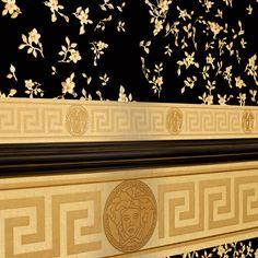 Deko Tapete Vinyl Wallpaper Hausfarben Versace Dekor Designer Tapeten Hintergrunde