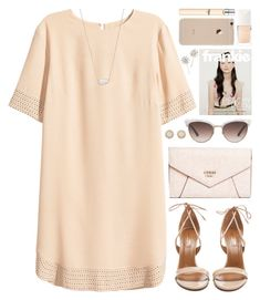 """blushing like a rose"" by undercover-martyn ❤ liked on Polyvore featuring H&M, Aquazzura, GUESS, Gucci, Kate Spade, Kendra Scott, Christian Dior, Jennifer Behr and Chloé"