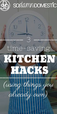 Streamline your time in the kitchen so that you can spend less time cooking (but still prepare healthy foods)! Check out these 3 Time-Saving Kitchen Hacks.