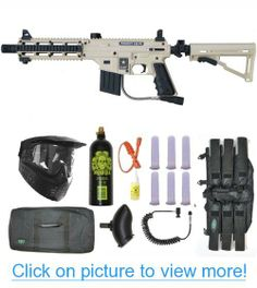US Army Project Salvo Paintball Gun 3Skull Sniper Set - Desert Tan