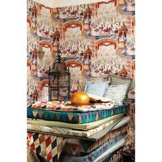 Cabaret is another classic Cole & Son print which has been reimagined for their nostalgia inspired Whimsical collection. This highly unique wallpaper has an unusual exuberant carnival design and features a grand ballroom with twirling dancers and big band in bold and fun colours.