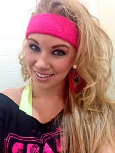 80s hair and makeup. 80s costume
