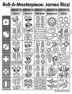 Looking for a fun James Rizzi buildings art lesson? Here's a fun art game to design a James Rizzi cityscape. Great for last minute art sub plans, too! Art Lessons For Kids, Artists For Kids, Art Lessons Elementary, Projects For Kids, Art For Kids, Art Projects, Elementary Schools, Art Sub Plans, Art Lesson Plans