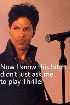 Prince. ..  ; ) #MJ