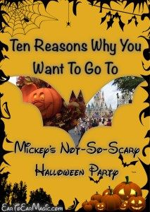 Trying to decide whether or not Mickey's Not-So-Scary Halloween Party at Magic Kingdom should be on your Disney World Bucket List? We have compiled our top ten reasons why we LOVE to go. Click to find out what they are or Pin this link to save it for later reading!  |  EarToEarMagic.com