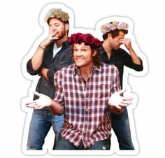 The Boys of Supernatural Adhesive Sticker on Redbubble