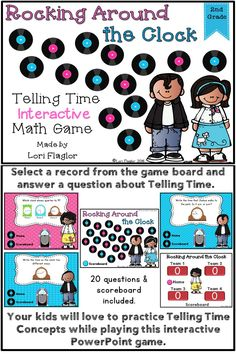Practice 2nd grade Telling Time standards with this exciting Powerpoint game.
