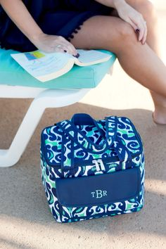 Luna Lagoon Lunch Bag Monogrammed | The Preppy Pair