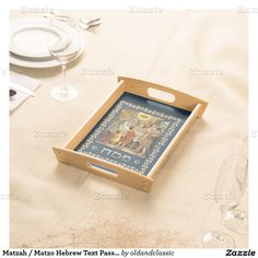 """Matzah"" / ""Matzo"" Hebrew Text Fine Art Passover Serving Tray. ""The First Passover"", English School, 19th century. Place your matzah in the tray for Seder night, just present it on the table during the 7 days of Pesach.  This is a great gift for Passover! Matching cards, postage stamps and other products available in the Jewish Holidays Category of the oldandclassic store at zazzle.com"
