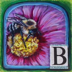 This is my second daily painting for the 30 in 30 challenge. B is for bumblebee! 30 Challenge, Sally, Dean, Alphabet, Flowers, Painting, Art, Art Background, Alpha Bet
