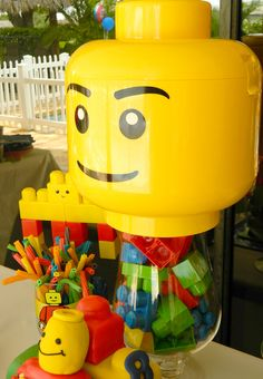 lego- guess how many legos are in the jar!