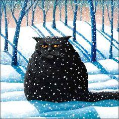 """""""Silent Night Cat"""""""