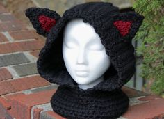 Welcome to Stitch Noir! Custom Made Cowl Super bulky weight blended yarn: acrylic/wool ADULT size These cowls are so fun to make and have such Acrylic Wool, Cowls, Arm Warmers, Wool Blend, Winter Hats, Wraps, Crochet Hats, Ear, Stitch