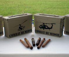 Combat Cigar Humidor | DudeIWantThat.com