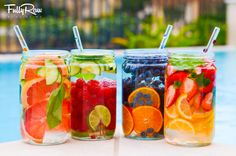 Creative, delicious fruit infused water recipes that will help keep you and the kids hydrated all summer long Fruit Water, Fruit Infused Water, Infused Waters, Dietas Detox, Liver Detox, Detox Tips, Liver Cleanse, Healthy Detox, Healthy Drinks
