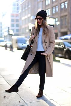 lovely jessie from journelles in a burberry trench coat. would wear all of it, big love!