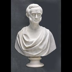 A marble statuary bust of Alexis Caswell from Brown University's Hay Library Reading Room. We reconnected his base, or socle, cleaned him and assisted his reinstallation.