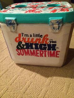 PurduePrep: Summer Crafting: My First Cooler Diy Cooler, Coolest Cooler, Luke Bryan, I Cool, Cool Stuff, Bubba Keg, Frat Coolers, Painted Fraternity Coolers, Cooler Designs