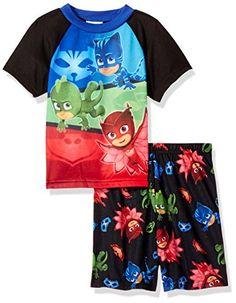 NWT Boys Sz 3T PJ Masks Catboy Pajamas w Cape Pants Short Sleeve Shirt Costume
