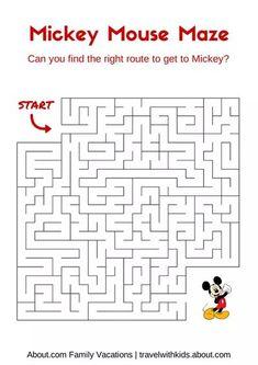 14 Free Disney Printables for Kids: Mickey Mouse Maze Disney Diy, Disney Crafts, Disney Trips, Walt Disney, Disney Cruise, Cruise Vacation, Orlando Disney, Disney Resorts, Cruise Tips