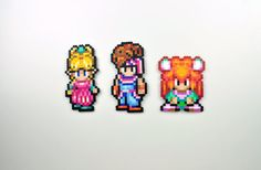 Perler Bead Magnet Set Super Nintendo Secret of Mana Three Heroes