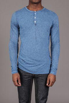 Greg Long Sleeve Henley Shirt